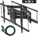 Deals List: Cheetah Mounts APDAM2B Articulating Dual Arm TV Wall Mount Bracket for 32 to 65-Inch LCD, LED, Plasma, Flat Screen Monitors Bundle with Twisted Veins 10-Feet HDMI Cable and 6-Inch Level