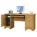 """Deals List: Realspace® Dawson 60"""" Computer Desk, Canyon Maple or Brushed Maple, or Cinnamon Cherry"""