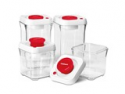 Deals List: Cuisinart CFS-TC-S8R 8 Pc. Food Storage Set Red Lid