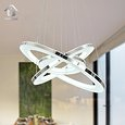 Deals List: UNITARY BRAND Modern Nature White LED Acrylic Pendant Light With 3 Rings Max 33W Chrome Finish