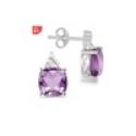Deals List: 3 3/4ct Cushion Mystic Topaz and Diamond Earrings