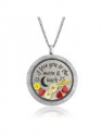 Deals List: I Love You to the Moon and Back Floating Charms Memory Locket Pendant Necklace for Womens Jewelry