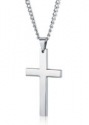 Deals List: style Jewelry Mens Simple Cross Necklace Stainless Steel Pendant for Women 22 24 Inch