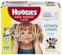 Deals List: HUGGIES Simply Clean Baby Wipes, Unscented, Soft Pack , 72 Count, Pack of 9 (648 Total)