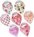Deals List: Baby Bandana Drool Bibs By Daulia, Girls 7-Pack Absorbent Organic Cotton, Cute Baby Gift for Girls