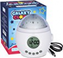 Deals List: Galaxy Clock by MomKnows. Soothing Night Sky Star Projector. Music Player With Nature Sounds Auto Shut Off And Volume Control. Mood Starry Light Lamp. Ideal For Kids And Baby