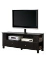 "Deals List: Walker Edison 58"" Black Wood Storage TV Cabinet with Mount"