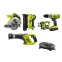 Deals List: Ryobi ONE+ 18-Volt Lithium-Ion Cordless Combo Kit with Brad Nailer (5-Tool)