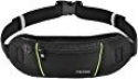 Deals List: Itechor Waist Pack, Sport Running Belt, Water Resistant Fanny Pack Fits iPhone 6/6S Plus , Adjustable Band for Men and Women, Black