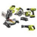 Deals List: Ryobi ONE+ 18-Volt Lithium-Ion Cordless Combo Kit w/Miter Saw 5-Tool