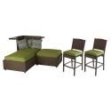 Deals List:  Hampton Bay Carol Stream 4-Piece Patio Lounge Seating and Bar Set