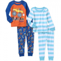 Deals List: Baby Toddler Girl Cotton Tight Fit Pajamas, 4-piece set