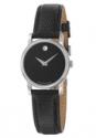 Deals List: Movado Museum Black Dial Black Leather Strap Mens Watch 2100002