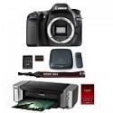 Deals List: Canon EOS 80D 24.2 MP DSLR Camera Body w/ Pro 100 Printer/ Paper & CS100 1TB Hub