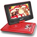 "Deals List: [Improved Battery] ieGeek 12.5"" Portable DVD Player with 360° Swivel Screen, 5 Hour Rechargeable Battery, Supports SD Card and USB, Direct Play in Formats MP4/AVI/RMVB/MP3/JPEG, Red"