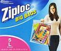 Deals List: Ziploc Big Bag Double Zipper, Large, 5-Count