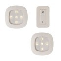 Deals List: Light It! by Fulcrum 3-Piece Wireless Remote Control LED Puck Lighting System (white, 30022-308)