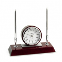 Deals List: Bey-Berk Tokyo Lacquered Rosewood 3-Time Zone Desk Clock with 2 Pens