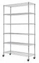 "Deals List: Commercial 82""x48""x18"" 6 Tier Layer Shelf Adjustable Wire Metal Shelving Rack"