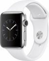 Deals List: Apple - Apple Watch Series 2 42mm Stainless Steel Case White Sport Band - Stainless Steel, MNPR2LL/A