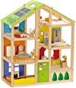 Deals List: Hape All Seasons Kid's Wooden Doll House Furnished with Accessories