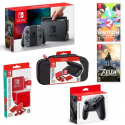 Deals List: Nintendo Switch with Gray Joy-Con Starter Bundle (Console, Pro Controller, Games and more)