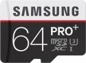 Deals List: Samsung - PRO+ 64GB microSDXC Class 10 UHS-1 Memory Card - Black/White, MB-MD64DA/AM