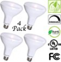 Deals List: 4 Pack Brightest BR40 LED Bulbs by Bioluz LED – INSTANT ON Warm LED Energy Saving Bulbs, 17w (120w Equivalent) 2700k Bulb 1400 Lumen, Indoor / Outdoor Smooth Dimmable Lamp UL Listed
