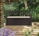 Deals List: Keter Eden 70 Gallon All Weather Outdoor Patio Storage Garden Bench Deck Box, Brown/Brown