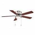 Deals List: Hugger 52 in. Brushed Nickel Ceiling Fan