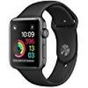 Deals List: Apple - Apple Watch Series 2 38mm Space Gray Aluminum Case Black Sport Band - Space Gray Aluminum