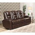 Deals List: Mastro Leather Power-Reclining Home Theater Seating Sofa by Abbyson Living