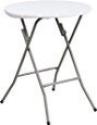 Deals List: 24'' Round Granite White Plastic Folding Table
