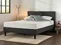 Deals List: Zinus Upholstered Diamond Stitched Platform Bed with Wooden Slat Support, Queen