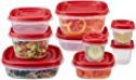 Deals List: Rubbermaid Easy Find Lids Food Storage Container, 18-Piece Set, Red (1777170)