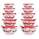 Deals List: Chef Buddy 82-5758 20-Piece Glass Bowl Set, Clear