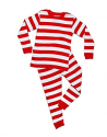 Deals List: Leveret Boys Girls Christmas Striped Red White Green 2 Piece Pajama Set Top & Pants 100% Cotton (Size Toddler-14 Years)