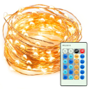 Deals List:  TaoTronics 33ft 100 LED String Lights Dimmable with Remote Control, TaoTronics Waterproof Decorative Lights for Bedroom, Patio, Garden, Gate, Yard, Parties, Wedding ( Copper Wire Lights, Warm White )