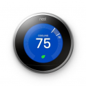 Deals List: Nest Learning Thermostat, Easy Temperature Control for Every Room in Your House, Stainless Steel (Third Generation), T3017US