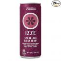 Deals List: IZZE Sparkling Juice, Blackberry, 8.4 oz Cans, 24 Count