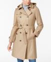 Deals List: London Fog Hooded Belted Trench Coat