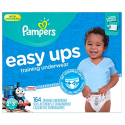 Deals List: Pampers Easy Ups Training Pants Pull On Disposable Diapers for Boys Size 4 (2T-3T), 164 Count, ONE MONTH SUPPLY