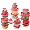 Deals List: Rubbermaid Easy Find Lid 42-Piece Food Storage Container Set, Red
