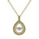Deals List: Gemstone and Diamond Double Halo Pear Shape Pendant 14K Gold