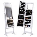 Deals List: LANGRIA 10 LEDs Lockable Carved Jewelry Cabinet