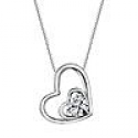 Deals List: Sterling Silver Heart Shaped Pendant Swarovski Zirconia