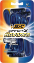 Deals List: BIC Comfort 3 Advance Men's Disposable Razor, Pack of 4