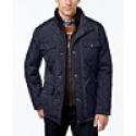 Deals List: London Fog Mens Corduroy-Trim Layered Quilted Jacket