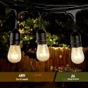 Deals List: Zuoqi UL-Listed 48 Feet Outdoor String Lights w/28 Bulbs