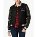 Deals List: Madden Girl Juniors' Faux-Leather-Sleeve Bomber Jacket